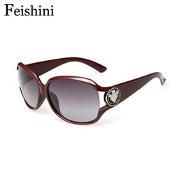 high grade sunglasses Coupons - Wholesale-FEISHINI Big Frame High Grade Vintage oculos de sol feminino Fashion UV400 Trend Polarized Sunglasses Women Brand Designer 2016