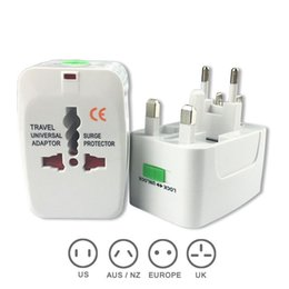 Wholesale Uk Travel Adaptor - Universal International Travel World Wall Charger AC Power Adapter with AU US UK EU Plug All in One DC Power Socket Charger Adaptors