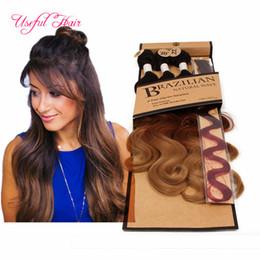 2019 style de tissage de cheveux vague naturelle Vente chaude 5pcs / lot vague de cheveux de corps tisse 220gram synthétique tressage de cheveux avec fermeture à lacet