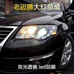 Wholesale Xenon Volkswagen - FOR Xiushan Volkswagen MAGOTAN old 07-11 headlight dual lens LED with modified xenon headlight assembly