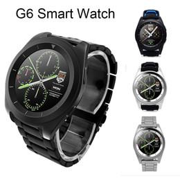 relógio pedômetro bluetooth para crianças Desconto G6 bluetooth smart watch para android sistema ios sem fio smart watch suporte pedômetro monitor de sono com pacote de varejo dhl oth354