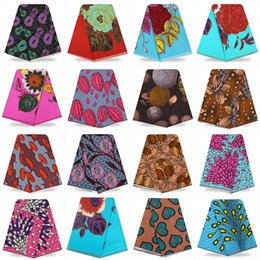 Wholesale African Fabric Shoes - 100 cotton african print fabric 6 yards african print dutch wax hollandais for headwrap skirt shoes and bags YBGTZ143-169