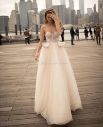 Wholesale Silver Bustiers - bustier peplum romantic ball gown wedding dresses 2018 berta bridal strapless sweetheart neckline heavily embellished bodice chapel train
