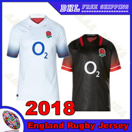 Wholesale England Rugby Xxl - England Rugby jersey 2018 home away Thai quality football uniform 2017 England Men Rugby shirt Free shipping S-3XL Thai quality