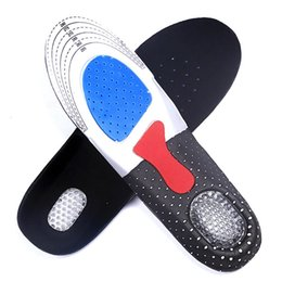 Wholesale foam insoles shoes - New Man Women Gel Orthotic Sport Running Insoles Insert Shoe Pad Arch Support Cushion Suit for US 35-46 shoe size