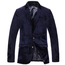 Wholesale Luxury Black Velvet Jacket - Mens blazers spring autum luxury business suits blazer 2017 slim fit black velvet men casual suit jackets masculino outwear coat