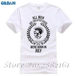 Wholesale Create Shirt - All men are created equal but only legends were born in july t-shirt BB109 Print T Shirt Man Short