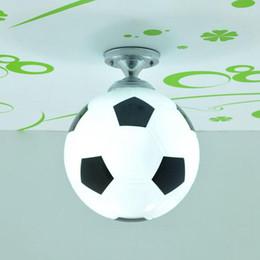 Argentina Fashion Boy's Room Fútbol / Baloncesto Lámpara de techo Luces de techo para el dormitorio de los niños Lindos Accesorios de techo para bebés Habitación Suministro