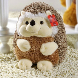 Wholesale Cute Hedgehogs Doll - Wholesale-Super Cute 15cm Hedgehog Plush Toy Doll Home DecorationGift for Babies 0-12 months Baby Children Dolls Toys