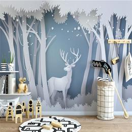 Canada Nordique Simple 3D Elk Fonds d'écran Salon Chambre Enfants Chambre TV Fond d'écran Papier Peint Papier Peint Personnalisé supplier elk live Offre