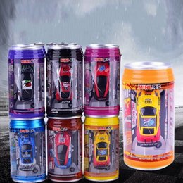 Wholesale Remote Controlled Electric Toy Tanks - Remote Control Car Mini Cans Coke Tank Child Toy Charging Cars For Collection Gift Amusement Decoration Eco Friendly Material 23jy I1