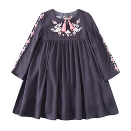 Wholesale Embroidered Girls Dresses - Kidsalon Kids Clothes Birthday Dress Christmas Embroidered Girl Party Dress with Tassel Robe Fille Kids Dresses for Girls 2-12T