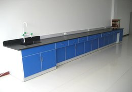 Wholesale Linear Furniture - 7.2 linear meters Laboratory Furniture Wall Bench Steel Lab Side Bench