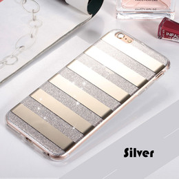 Wholesale Phone Covers Accessories - Mirror Plating Bling Cellphone Case Hybrid Soft TPU PC Glitter Accessories Full Cover Clear Cell Phone Case For iphone 7 iphone 6plus cases