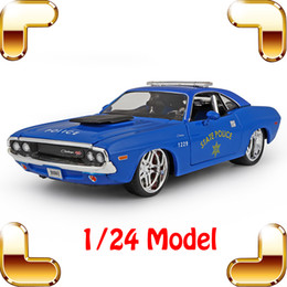 Wholesale Decoration Scales - New Arrival Gift 1970 1 24 Model Alloy Car Diecast House Decoration Toys Cars Vehicle Scale Simulation Collection Metal Present