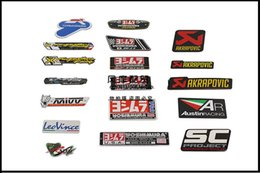 Wholesale Heated Motorcycle - 2017 Aluminum 3D Heat-resistant Motorcycle Exhaust Pipes Sticker Cool Personality Scorpio Yoshimura Emblem Akrapovic motorcycle Decal
