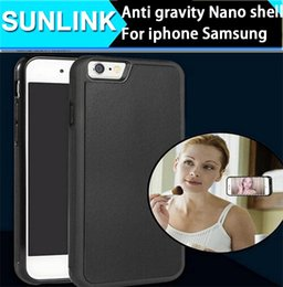Wholesale Cheapest Water Resistant Phone - cheapest luxury thin Anti gravity adsorption nano mobile phone shell protecive can be Stick to the wall convinent for iphone6 7 sumsang