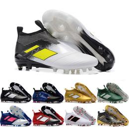 Wholesale Cheap Winter Boots Online - 2017 Cheap Online Wholesale Ace 17+ purecontrol soccer boots Pure Control Football Shoes Men Soccer Cleats Boots Cheap Best Quality