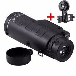 Wholesale Zoom Universal - Universal Common 10x40 Hiking Concert High multiples HD Cellphone Camera Lens Double adjustable Zoom Telescope Camera Lens Phone Holder