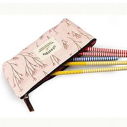 Wholesale Flower Pencil Cases - Wholesale- Flower Floral Pencil Pen Canvas Case Cosmetic Makeup Tool Bag Storage Pouch New