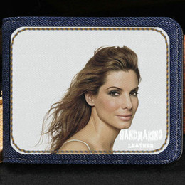 Wholesale Fresh Movies - Sandra Bullock wallet Best actress purse Movie star short cash note case Money notecase Leather burse bag Card holders