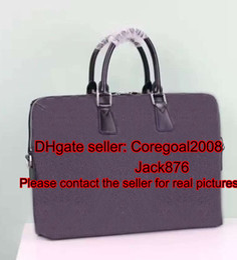 Wholesale Mens Tote Bag Zipper - black plaid PORTE-DOCUMENTS JOUR mens shoulder bag business briefcase cross body case handbag laptop tote bag N48224 N48260 N41347