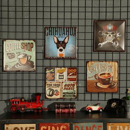 Wholesale Image Stickers - Loft Industrial Style Restoring Creative Handmade image Household Wall Decoration Cafe Bars Restaurants exquisite Wall Stickers