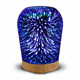 Wholesale Desktop Ultrasonic - 12W 100-240V 100ml 3D Light Essential Oil Aroma Diffuser for Home Desktop Ultra-quiet Portable Ultrasonic Air Humidifier Aromatherapy