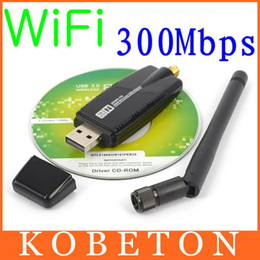 Wholesale Desktop Windows - Wholesale- 300 Mbps Wireless Adapter USB 2.0 WiFi 2.4G Network Lan Card With Antenna Realtek 8191 for windows XP Vista 7 8 Linux MAC