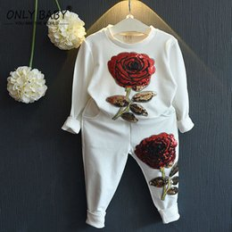 Wholesale Toddler Clothing For Boys - Wholesale- 2016 Brand Winter Toddler Girl Clothes Kids Girls Boutique Clothing Sequin Tracksuit Girls Set for Girls 2 3 4 5 6 7 8 Years Old