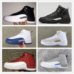 Wholesale Online French - 2017 Wholesale Original Retro 12 Basketball Shoes Men Sneakers 2016 New Cheap Online 12 XII French Blue OVO Boots Size US 8-13