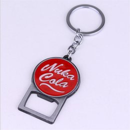Wholesale Beer Promotion - 2017 Beer bottle opener Pip Boy Nuka Cola Fallout 4 can father's day tool metal Jewelry keychain key rings pendant keys cerveja