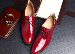 Wholesale Formal Design Leather Shoes - Brand Minimalist Red Rivets Bottom Design 100% Genuine Suede Leather Mens Leisure Flat Brand Spring Formal Casual Dress Flat Oxford Shoes