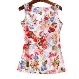 Wholesale Cheap Ladies Clothing Wholesale - Wholesale-Summer Women T-shirts 16 Styles Flower Print Ladies Blusa Feminina Top Tee T Shirt Plus Size Cheap Clothes China Female Tops