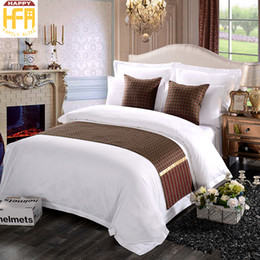 Wholesale Brown Queen Bedding Set - 45*180Cm Bed Runner Bedrunner Comfort Runner Bedding Set Dark Brown Runners Modern Decorative Patterns For Hotel Room Guest House Room
