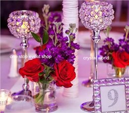 Wholesale Tall Crystal Stands - wedding flower stand decoration crystal ,wholesale tall candelabras centerpieces