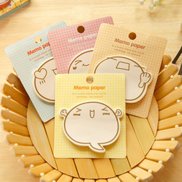 Wholesale Expressions Notes - Cute Big Face Facial Expression N Times Sticky Notes Memo Pad Paper Sticker Post It Notepad Gift Stationery