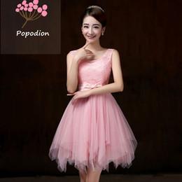 Wholesale violet gowns - Popodion party-dresses-cheap violet bridesmaid dresses short dress for wedding guests sister party formal dress prom dresses dhROM80006