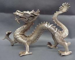2019 statue de dragon chinois argent 12