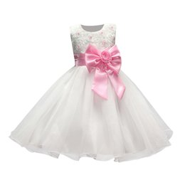 Wholesale First Communion American Girl - Flower girl dresses for weddings Girl dress white pageant first holy communion lace dresses for baby girls younger child bride Dress