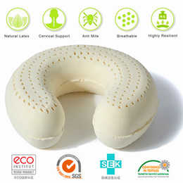 Wholesale Latex U Pillow - HAI PAI New Luxurious U-shaped Travel Flannel Neck Positioning Decompression Natural Latex Pillows Including High-end Luxurious Pillowcases