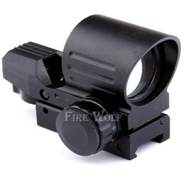 Wholesale Types Red Dot Sights - Funpowerland 4 Type Reticle Reflex Red Green Dot Sight Red Green Dot Reflex Sight with Scope Mount