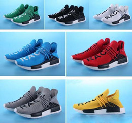 Wholesale Fall Kid - HOT Sale Promotion NMD HUMAN RACE Pharrell Williams X NMD Runner Shoes man & women New Arrivals Summer Spring Autumn Sneakers kids