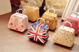 Wholesale Iron Metal Box - Creative handbag mini storage peninsula small iron, coin, cartoon cute box wholesale