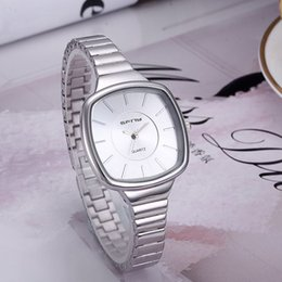 Wholesale Stainless Steel Square Watch - Wholesale 2017 New Fashion Simple style Women Watch Stainless Steel Quartz Watch For Ladies Femme Montre Relojes De Marca Casual Wristwatch