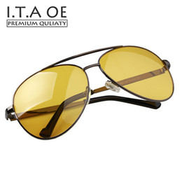 Wholesale Night Vision Car Driving Glasses - Wholesale- ITAOE Night Driving Vision Special Usage Sunglasses Anti High Car Beam Light Men Male Eyewear Frames Glasses Spectacles