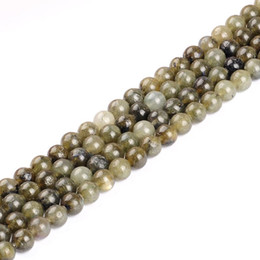 """Wholesale Bead Strand Moonstone - Round Smooth Moonstone Labradorite Beads Selectable Size 6mm to 12mm Fashion DIY Beads Natural Stone Beads strand 15"""" DIY making"""