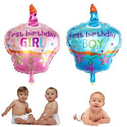 Canada 10 PCS / LOT 66 * 47 cm jouets importés en aluminium ballons décoration de fête anniversaire gâteau gâteau en gros garçons et filles Offre