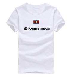 Wholesale United Tees - Swaziland T shirt The United Nations show short sleeve All size sport tee National flag clothing Unisex cotton Tshirt