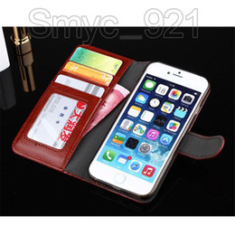 Wholesale Iphone Wallet Dhl - Wallet Case for S7 PU Leather Case Cover Pouch With credit card slot Photo Frame stand for iphone 6s iphone 7,DHL free shipping